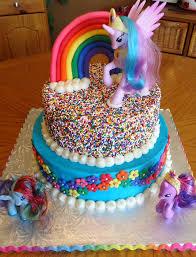 my pony birthday cake my pony rainbow cake not my cake but i the sprinkles