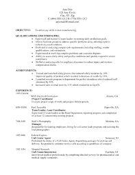 Sample Resume Format For Call Center Agent Without Experience by Example Resume For Job