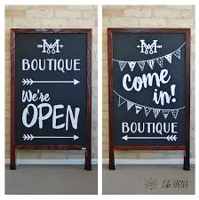custom business a frame sandwich board sign my boutique