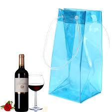 champagne transparent transparent portable wine beer champagne ice bag bbq picnic drink