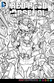 image red hood arsenal vol 1 8 coloring book variant jpg
