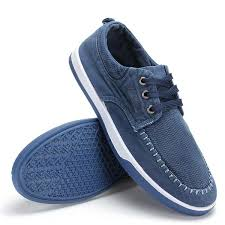 Comfortable Canvas Sneakers Men Casual Outdoor Canvas Comfortable Breathable Fashion Lace Up