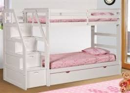 Bunk Bed White Bunk Beds With Stairs Foter