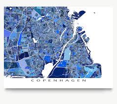 copenhagen map print denmark u2013 maps as art