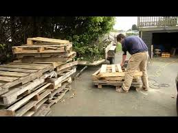 Pallet Sofa For Sale Hamilton Creations Transforms Wood Pallets Into Furniture Youtube