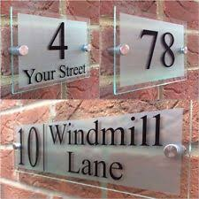 glass door number signs glass house number plaques u0026 signs ebay