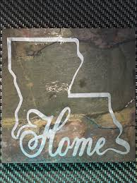 slate tile with vinyl louisiana home decal wall decor by