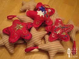 felt and stuffed ornaments wee folk