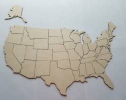 wooden usa map puzzle with states and capitals united states puzzle etsy