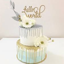 hello wedding cake topper hello world baby shower cake topper sugar crush co