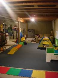 our unfinished finished basement from thrifty decor