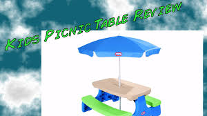 little tikes picnic table review youtube