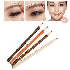 light grey eyebrow pencil high quality 4pcs set makeup cosmetic eye liner eyebrow pencil brush