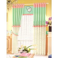 Green And Linen Girls Curtains Polka Dot Pattern 2016 Arrival