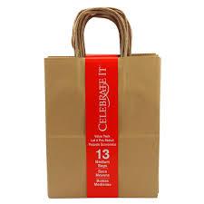celebrate it medium paper bag value pack natural