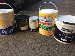 household and masonry paint selection magnolia white in