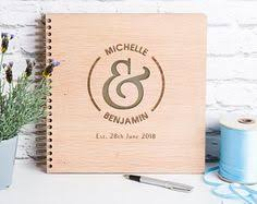 Personalized Wedding Albums Book Lay Flat Instant Photo Wedding Guest Book Monogram Personalized