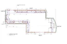 plan view mahogany library u2013 d u0027ireys cabinetmakers