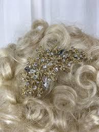rhinestone hair vintage inspired gold rhinestone hair comb l a boudoir miami