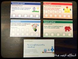 this teacher created reward cards using business card templates on