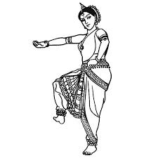 coloriage danse indienne a imprimer gratuit