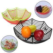 Candy Basket Plastic Spider Web Fruits Candy Basket Spider Web Bowl Halloween