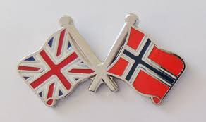 Flag Of Norway Norway And United Kingdom Friendship Flag Badge T183x