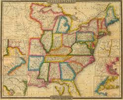 Maps Of United States Of America by 1833 Map Of The United States