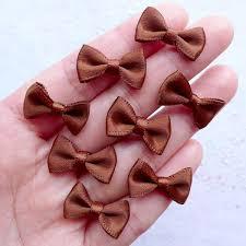 ribbon bows satin bows in 20mm mini fabric ribbon bows card