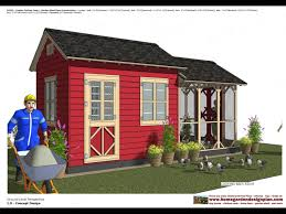 cb202 combo chicken coop garden shed plans construction youtube