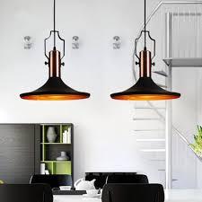 Black Pendant Ceiling Light Industrial Pendant Light Retro Cone Mini Pendant Light In Aged