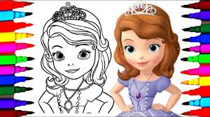how to draw sofia the first coloring pages l disney junior drawing