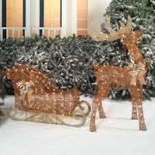 santa sleigh and reindeer ebay
