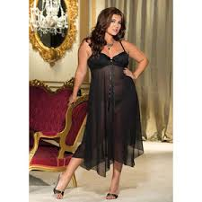 plus size nightgown with padded underwire cups