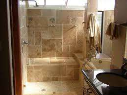 Doorless Shower For Small Bathroom Bathroom Doorless Walk In Shower Space In Small Bathroom Design