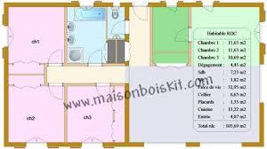 plan d une chambre plan d une maison de 100m2 6 individuelle bois 3 chambres pas chere