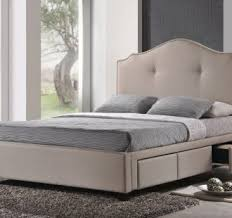 create a storage bedroom with king size bed frame with storage