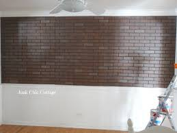 junk chic cottage farmhouse faux brick wall