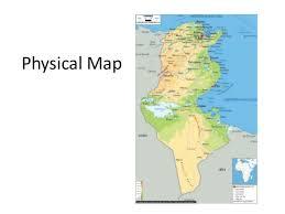 tunisia physical map tunisia