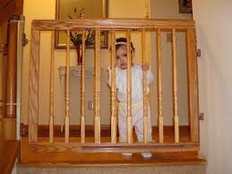 Best Stair Gate For Banisters 20 Ways To Wooden Baby Gates For Stairs