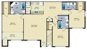 three bedroom flat floor plan three bedroom apartments for rent in houma la