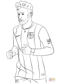 neymar coloring free printable coloring pages