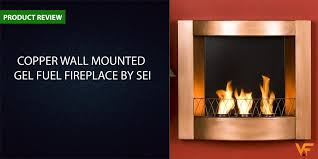 copper wall wall mounted gel fuel fireplace by sei