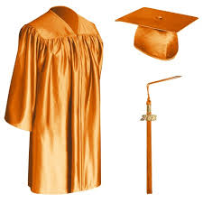 preschool caps and gowns child orange graduation cap gown tassel