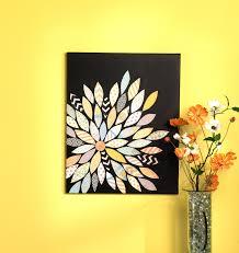 scrapbook paper pieced flower diy canvas art crafts pinterest
