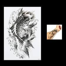 carp fish tattoo online buy wholesale temporary fish tattoos from china temporary