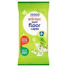 tesco antibacterial floor wipes apple 15pack