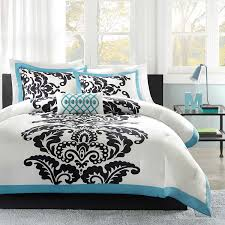 Black And White Damask Duvet Cover Queen Amazon Com Mi Zone Florentine Cotton Duvet Cover Set Blue