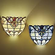 Wireless Wall Sconce Wall Lamps U0026 Sconces Stained Glass Wall Lights Seventh Avenue