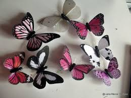 wall butterflies from paper and clay